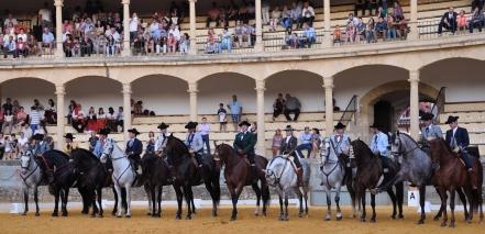 Participantes en el VI Concurso Alta Escuela Ciudad de Ronda